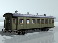 3d 3ds 2-axles passenger wagon 5412