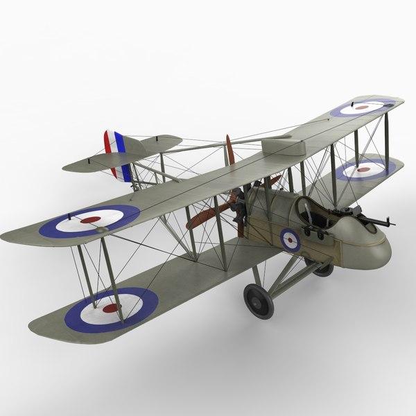 3ds max airco dh 2 aircraft