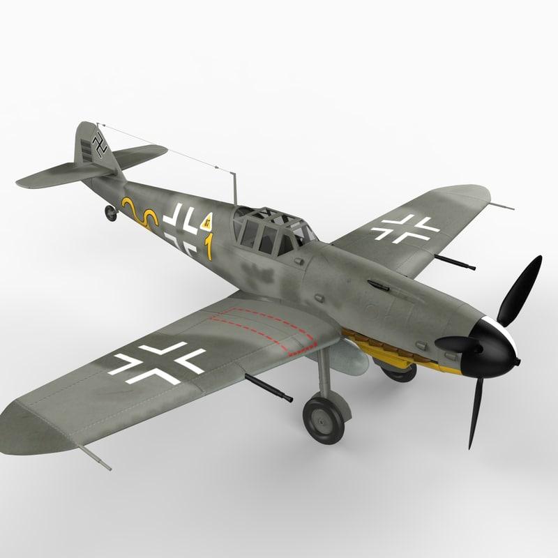 3ds max me-109 g6 messerschmitt bf 109