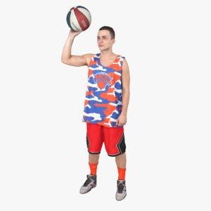 3d street basketball player