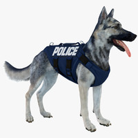 Police Shepherd Dog (Black & Silver)