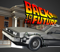 3d delorean model