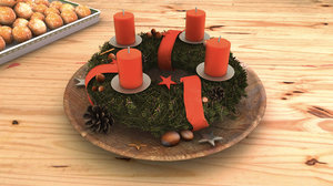 3d model advent wreath