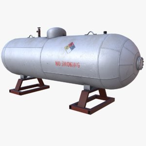 3d large propane tank
