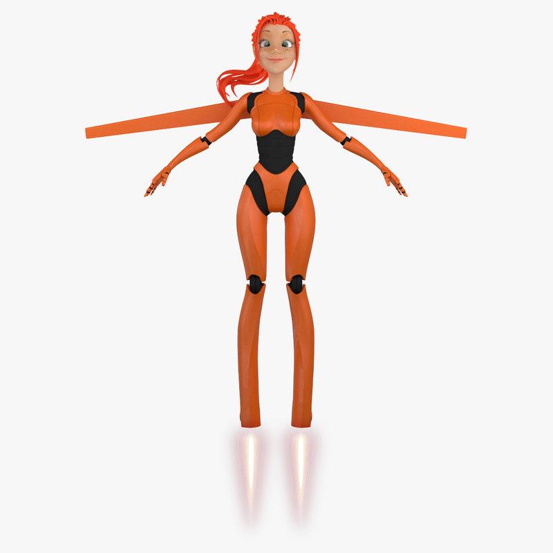max cartoon robot girl 5