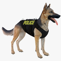 Police Shepherd Dog (Black & Tan)