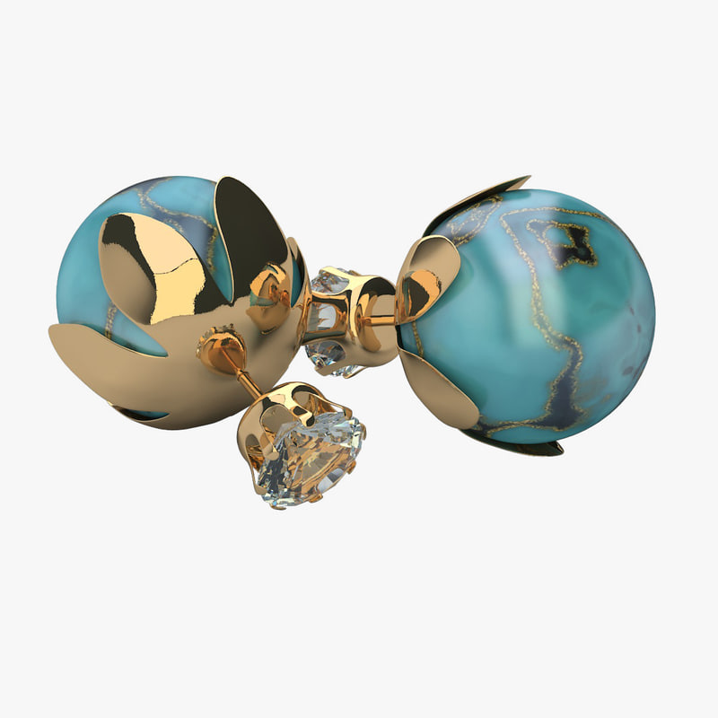 3d model earrings t