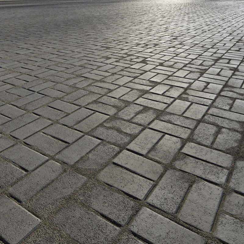 3d paving bricks