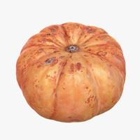 3d pumpkin scan model