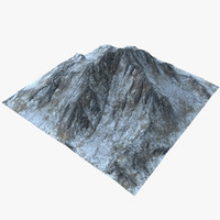 landscape mountains 3d model