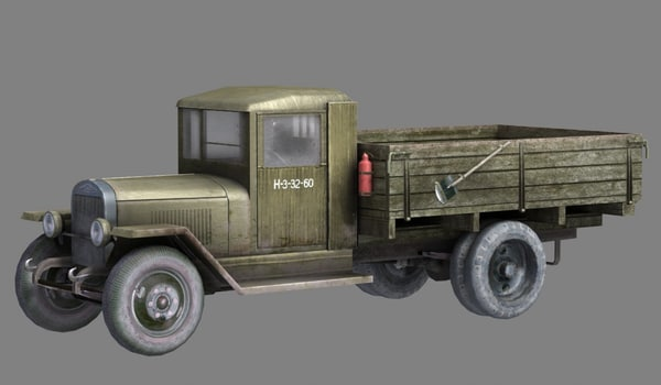 wwii cargo truck 3d 3ds