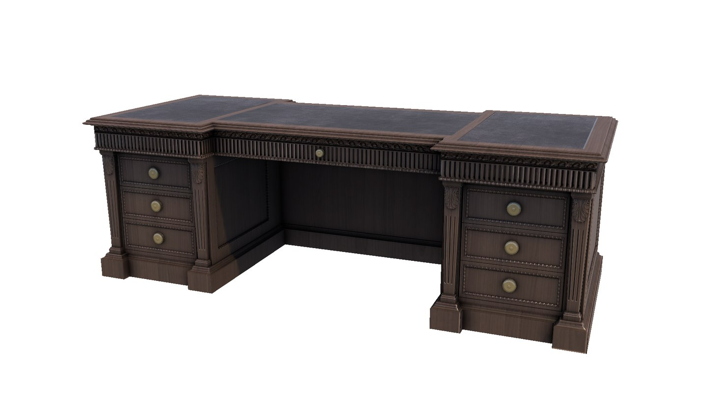 3d table desk model