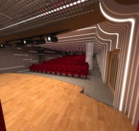 conference hall 3d max