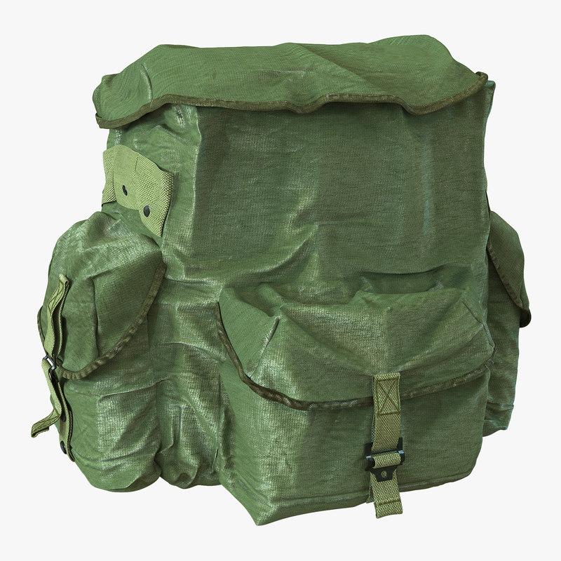 military backpack 3 3d model