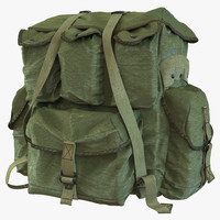 military backpack 2 3d model