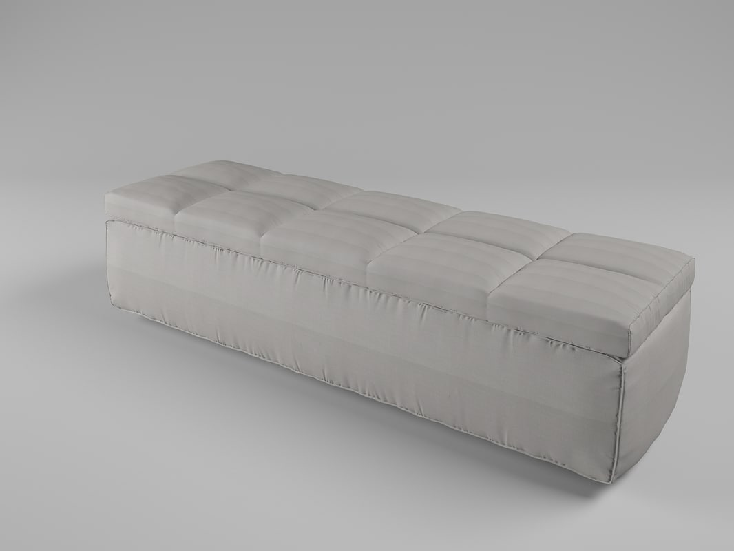 bench fabric 3d 3ds