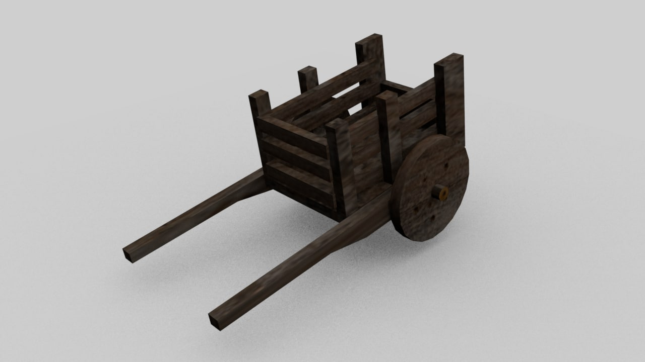 old wheelbarrow 3d 3ds