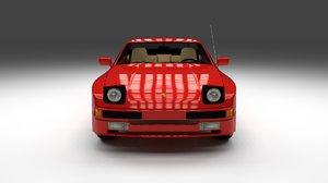 3ds max porsche 944 interior