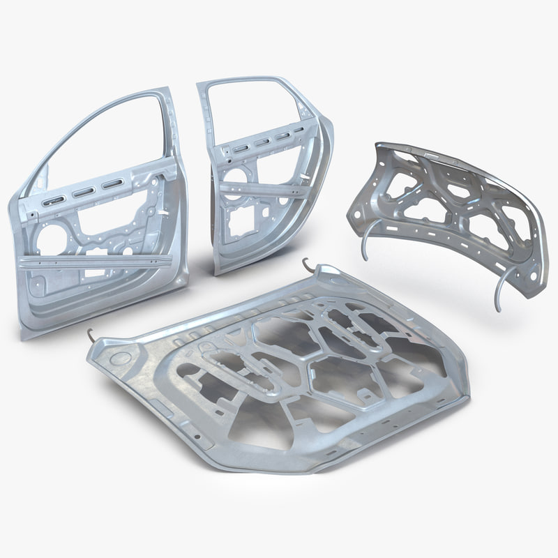 3d car frames model