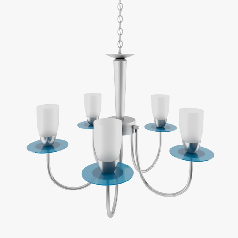 chandelier contemporary 3d model