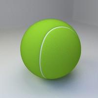 3d 3ds tennis ball