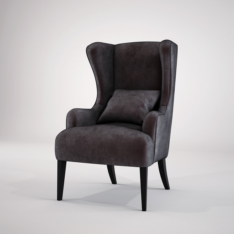 3d baker simply wing chair model