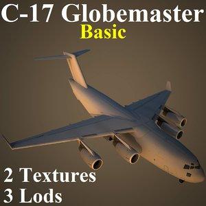 3d boeing basic military transport model