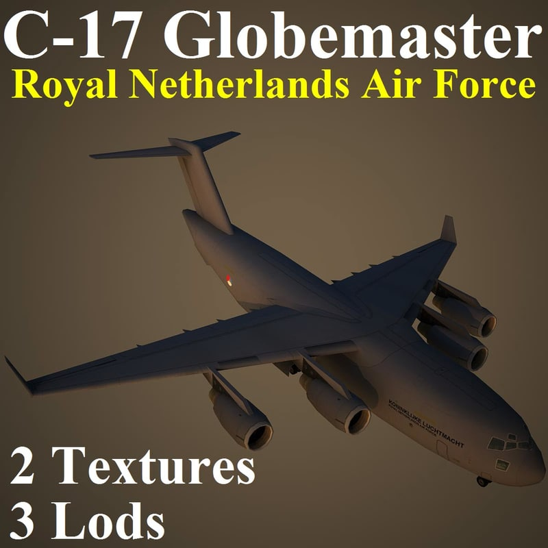 3d boeing rnl military transport model