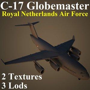 3d boeing rnl military transport model