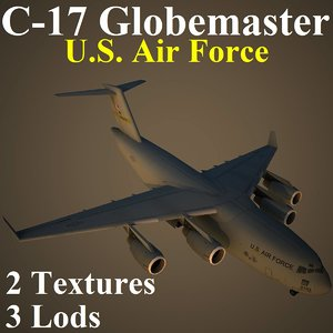 boeing usa military transport 3d max