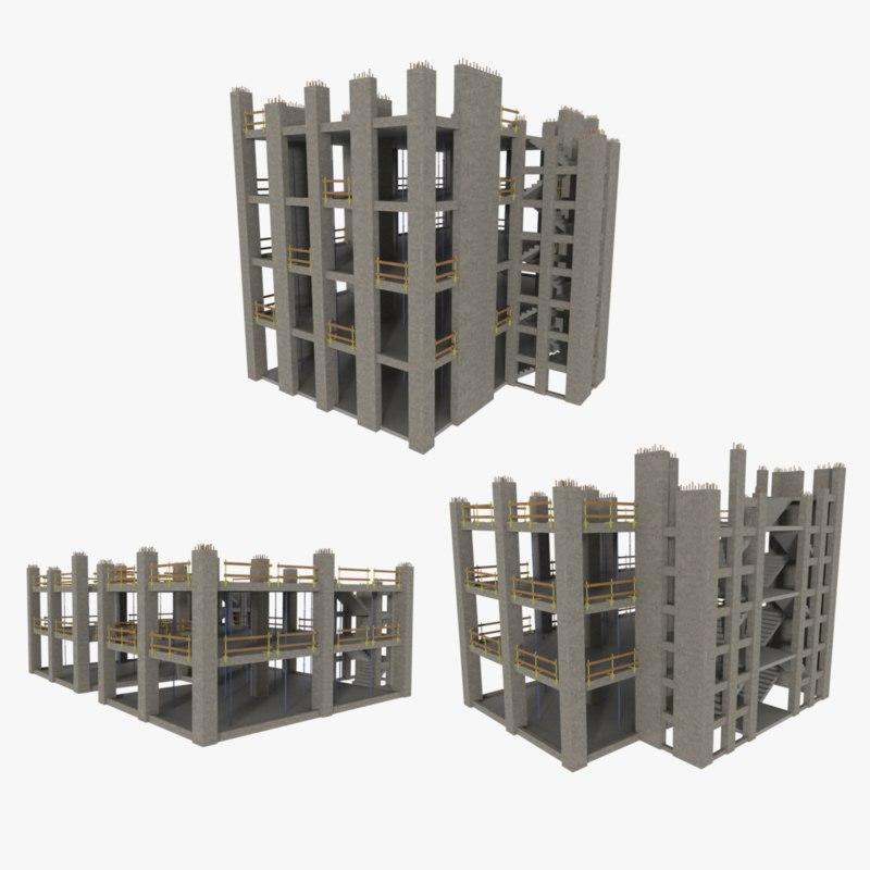 pack construction sites 3d model