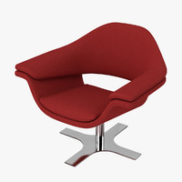 3d model molteni hi-cove chair