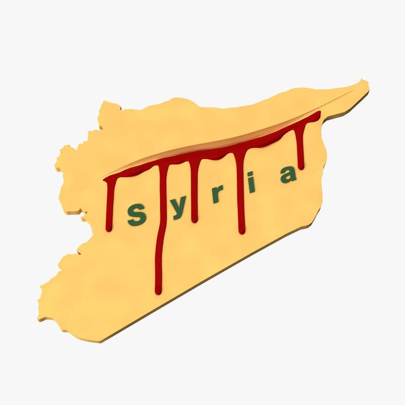 3d model symbolic bleeding syria