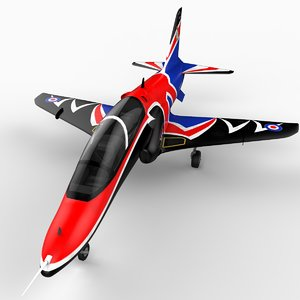 3dsmax british hawk t1a aircraft