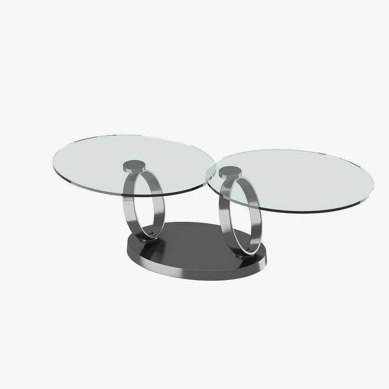 3d model modern table glass tabletops