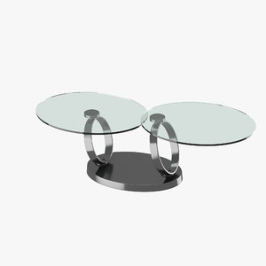 3d model modern table glass tabletops