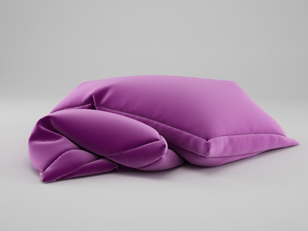 free photorealistic pillows 3d model