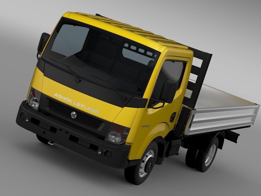 3d model ashok leyland partner tipper