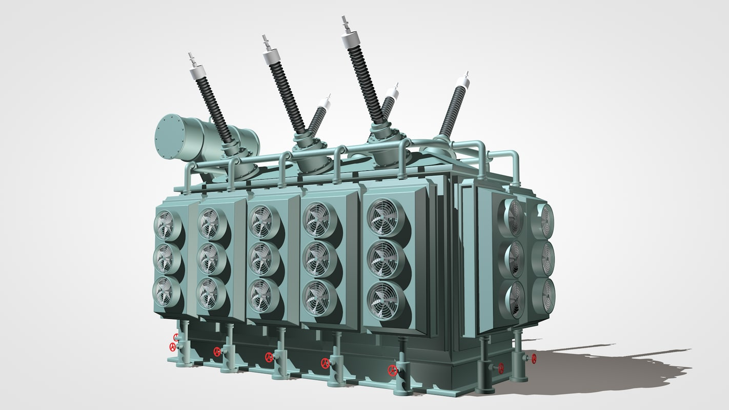 3d power station model