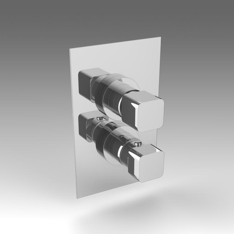 3d mixer tap model
