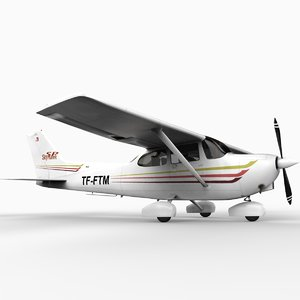 3d model of skyhawk sp 172