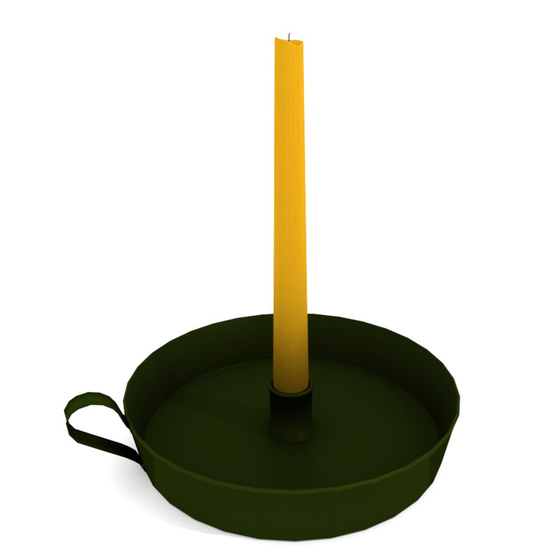 3ds candle candleholder