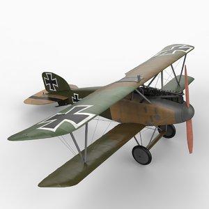 3d model albatros d iii