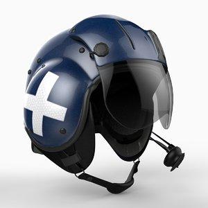 3d model helicopter helmet