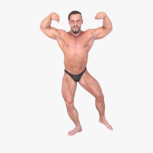 3d bodybuilder fullbody
