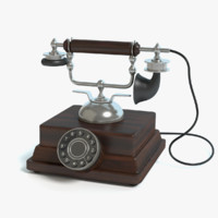 old fashioned phone 3d 3ds