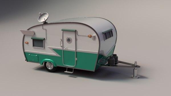3d model trailer shasta