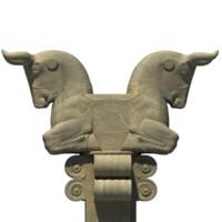 persepolis bull capital 3d model