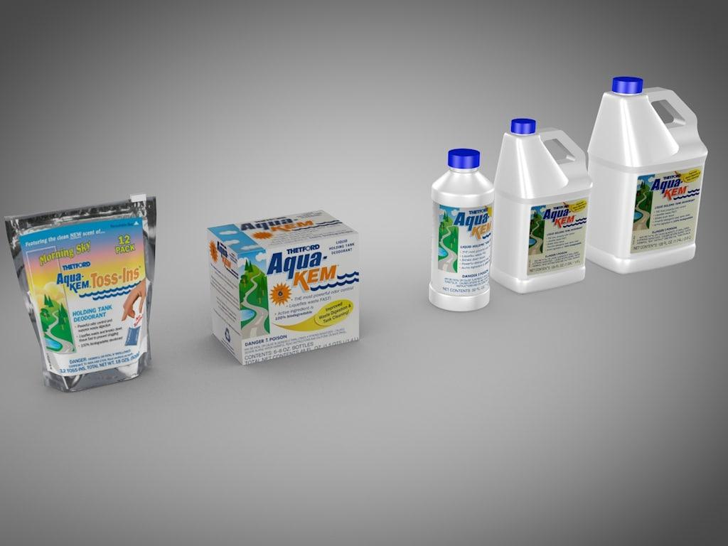 3d model thetford aqua kem products