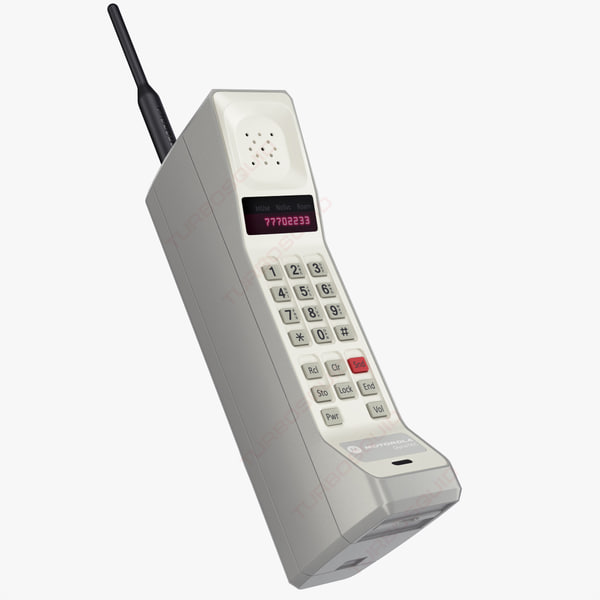 3d model cellphone motorola dynatac